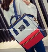【大開口後背包】韓系校園情侶大容量書包 雙肩背包 手提包 旅行包包 戶外休閒包