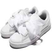 Puma 休閒鞋 Basket Heart Patent PS 全白 漆皮 緞帶鞋 大蝴蝶結 童鞋 中童鞋【PUMP306】 36335202