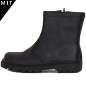 男款 MIT真皮側邊拉鍊寬楦鋼頭 耐磨止滑側邊縫線 安全鞋 工作靴