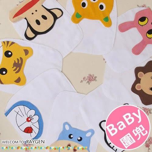 嬰兒紗布墊背巾 可愛卡通印花造型 圍兜
