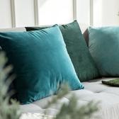 北歐天鵝絨抱枕沙發靠墊辦公室椅子腰靠枕床頭靠背墊抱枕套不含芯