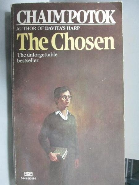 【書寶二手書T3/原文小說_LBU】The Chosen_Chaim Potok