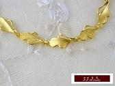 9999純金 黃金金飾 幸福花卉  手鍊