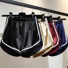 高腰闊腿綢緞光面運動短褲/熱褲 4色 M-2XL碼【RK67203】