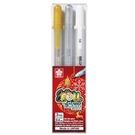 【金玉堂文具】XPGB-3CH1証卷筆3支入 金.白.銀色 SAKURA 櫻花