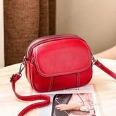 迷你小包包女新款時尚復古簡約百搭小圓包側背斜背軟皮女包 韓國時尚週