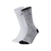 Nike JRDN LGCY ELPHNT CRW 2 灰白 兩雙入 爆裂紋 運動 籃球 長襪 SX5859-101