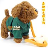 兒童電動牽繩狗毛絨玩具狗走路小狗音樂機械遙控狗狗玩具電子寵物【免運85折】