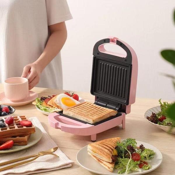 爍寧三明治機輕食早餐機家用定時多功能神器華夫餅吐司面包壓烤機 夢幻小鎮「快速出貨」