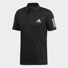 ADIDAS 3-STRIPES CLUB 男裝 短袖 POLO衫 休閒 慢跑 網球 透氣 舒適 黑【運動世界】DU0848