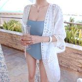 刺繡蕾絲透視防曬外套泳衣比基尼外罩衫沙灘外搭【38-15-81061-18】ibella 艾貝拉