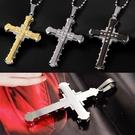 真空電鍍水晶鑽黑暗騎士鈦鋼十字架