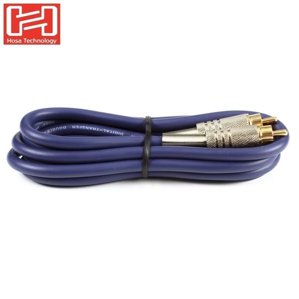 耀您館|美國HOSA數位同軸音源線DRA-502(S/PDIF RCA轉S/PDIF RCA音訊線)SPDIF音頻同軸線