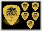 [唐尼樂器] 全新款 Dunlop ULTEX SHARP 木吉他/民謠吉他/電吉他/電貝斯 Bass Pick 彈片