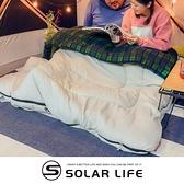 Coleman 冒險者橄欖格紋刷毛睡袋/C0/CM-33804.信封型睡袋 可拼接睡袋 化纖睡袋 纖維睡袋 雙人睡袋