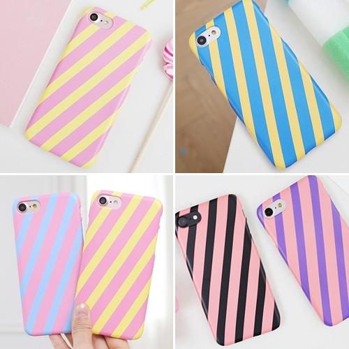 韓國 雙色斜紋 硬殼 手機殼│iPhone 6 6S 7 8 Plus X XS MAX XR 11 Pro LG G7 G8 V40 V50│z7997