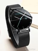 運動潮流簡約學生手錶蟲洞概念全自動機械表男士石英防水超薄男表-Ifashion