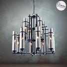 吊燈✦ 現代工業風 長形透光燭燈 12燈...