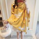 新款時尚棉質柔軟絲巾圍巾 文藝空調披肩 披肩圍巾105