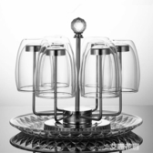 杯子架瀝水托盤家用掛水杯架放玻璃杯的架子304不銹鋼茶杯置物架QM『艾麗花園』