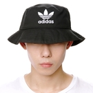 J- adidas ORIGINALS BUCKET HAT 黑白 黑 三葉草 漁夫帽 男女款 基本 好搭 潮流 三線 BK7345