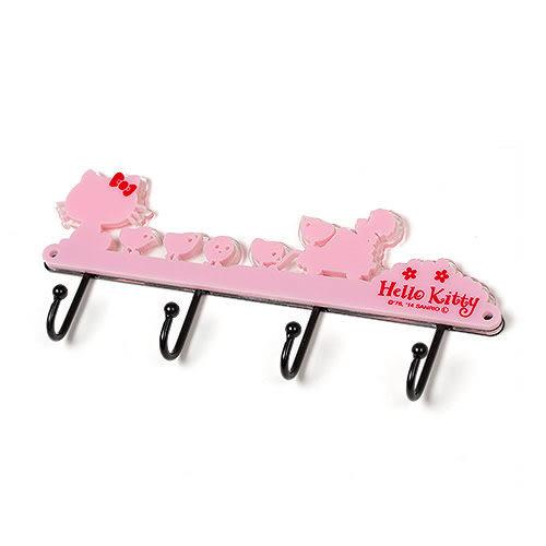 【震撼精品百貨】Hello Kitty 凱蒂貓~HELLO KITTY壓克力造型鑰匙收納掛架(剪影生活粉)