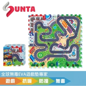 【SUNTA拼接EVA樂扣墊】瘋狂賽車32*32*1cm(9片/組)