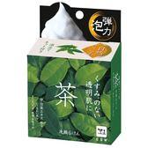 【京之物語】日本製造COW天然綠茶透明肌海泥清潔皂 洗面皂 潔顏皂80g-預購