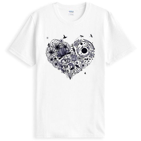 【Dirty Sweet】Flower Heart短袖T恤-3色 設計愛心花情侶插畫美國棉圓筒現貨390