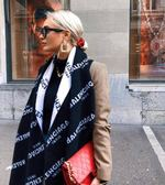■2019新款■專櫃73折■Balenciaga 558951精紡羊毛雙面LOGO圍巾
