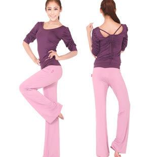女士瑜伽服套裝春夏季寬鬆顯瘦運動健身瑜珈舞蹈練功愈加服秋 - lxy001017