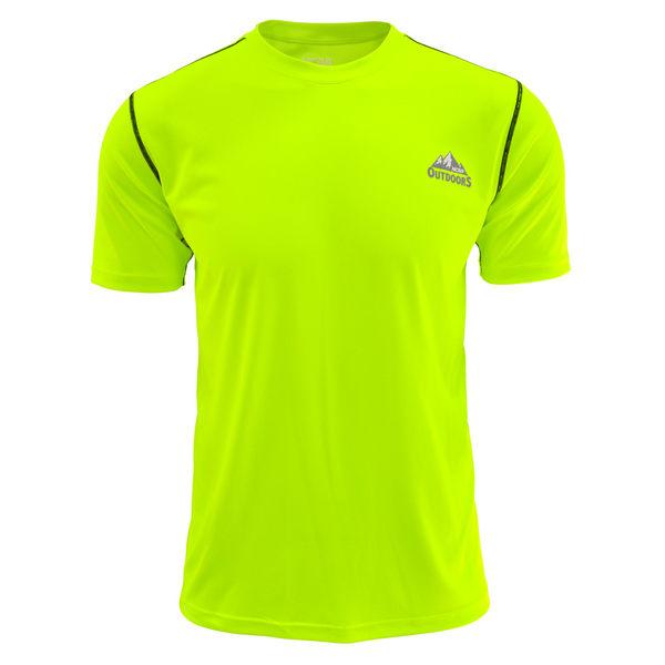 吸濕排汗衣 運動短袖T恤 極致輕量 NCAA(螢光黃)