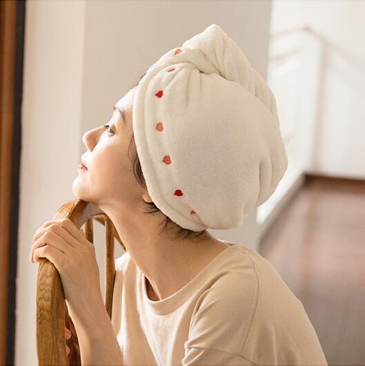 【兩條裝】干發帽女吸水毛巾速干帽發巾超強浴帽洗頭發擦頭巾包頭