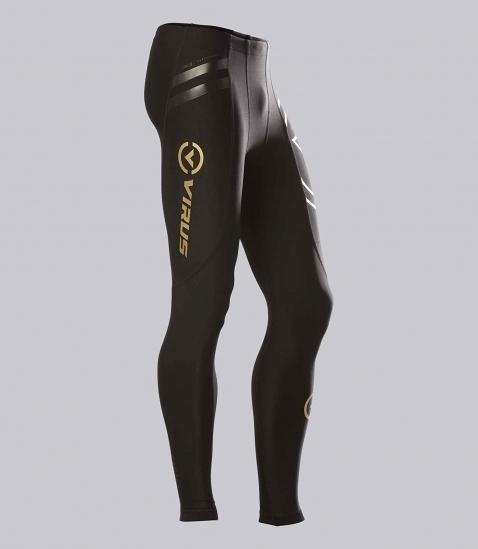 【鼎立資訊】VIRUS 美國百樂仕 慢跑/登山/打球/健身 男子生物能緊身V2機能長褲 Au9