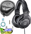 [8美國直購] 耳機 Audio-Technica ATH-M30x Monitor Headphones Bundle with SLAPPA SL-HP-07