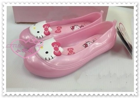 ♥小花花日本精品♥Hello Kitty 大臉造型立體蝴蝶結防水娃娃雨鞋童鞋粉色蝴蝶結 811342
