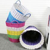 洗衣籃 塑料藤編髒衣籃髒衣服收納筐衣物家用洗衣籃衣簍玩具桶編織框簍子XC