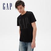 Gap男裝 棉質舒適圓領短袖T恤 499950-正黑色