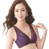 思薇爾-撩波系列C-E罩深V蕾絲包覆內衣(皇家紫)