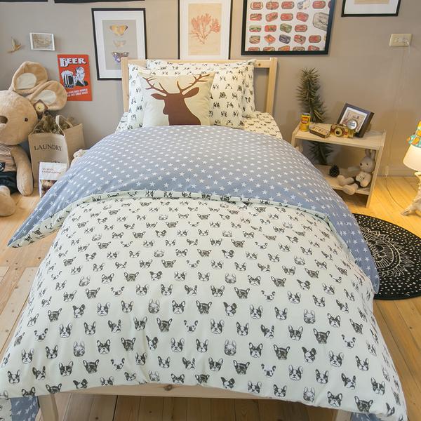 北歐風 SPM2單人鋪棉床包薄被套三件組  多款可選 四季磨毛布 北歐風 台灣製造 棉床本舖