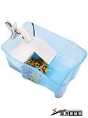 烏龜缸 別墅帶曬台大型烏龜盆水陸缸巴西龜箱養小烏龜的專用缸家用 酷男