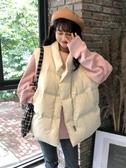 秋冬新款小清新甜美加厚棉服無袖背心寬鬆百搭學生外穿上衣女 雅楓居