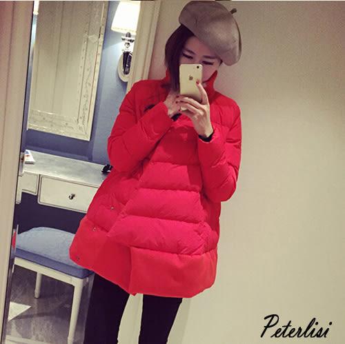 秋冬女裝韓版新款學生保暖棉襖外套寬鬆大碼中長款時尚棉衣服  1886K  彼得麗絲