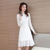 降價兩天 很仙法國小眾白色女仙氣質2020網紅時尚新流行蕾絲連身裙魚尾裙潮