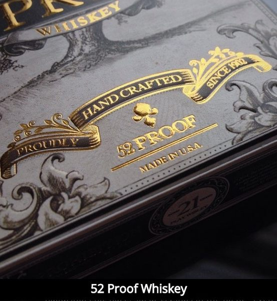 【USPCC 撲克】撲克牌 52 proof playing cards 燙金版 (Whiskey deck)