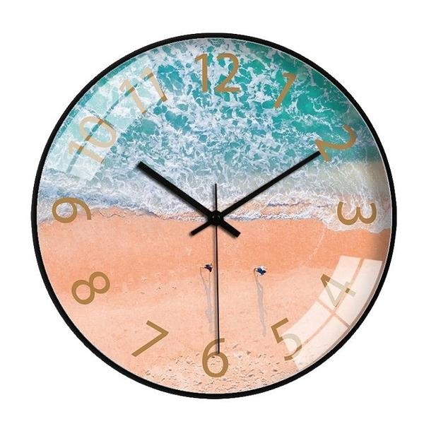 掛鐘 掛鐘北歐客廳臥室鐘錶個性創意時鐘簡約ing網紅鐘石英鐘家用靜 新年牛年大吉全館免運