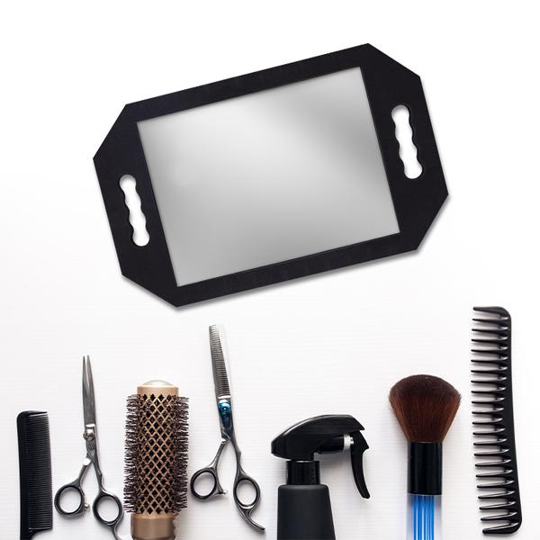 泡棉手鏡 鏡子 可手拿 美髮美容專用【DT STORE】【0320205】