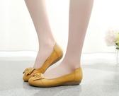 豆豆鞋媽媽鞋軟底女春季老人鞋單鞋防滑舒適平底中老年人豆豆鞋女鞋 可然精品