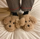 細細條可愛卡通毛毛拖鞋女冬季保暖居家室內少女心棉拖鞋半包跟【快速出貨八折搶購】