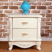 促銷款床頭櫃 歐式床頭櫃白色簡約現代韓式臥室木質床頭櫃烤漆儲物收納小c推薦xc